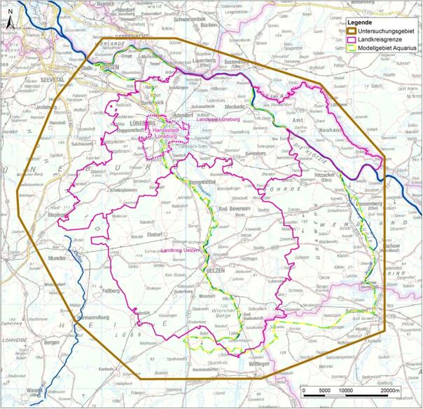Wasser- und Bodenverband Verband Uelzen - Hydrologisches Modell Untersuchungsgebiet